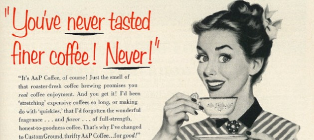 1953 Illustrated Coffee Ad, AP Coffee by Classic Film, CC-BY-NC 2.0
