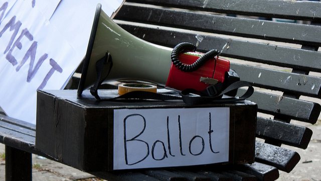 Ballot Box and Bullhorn
