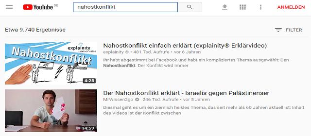 Nahostkonflikt YouTube